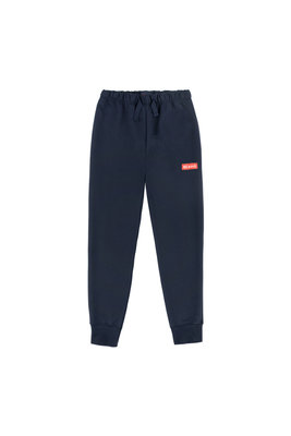 'BE BOLD' sweatpants navy/red