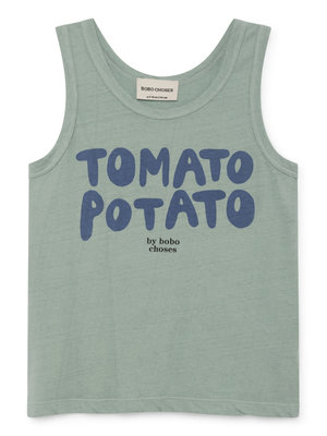 Bobo Choses Tomato Potato Linen Tank Top