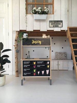 Stickerset voor het Ikea Duktig keukentje, juicy bar