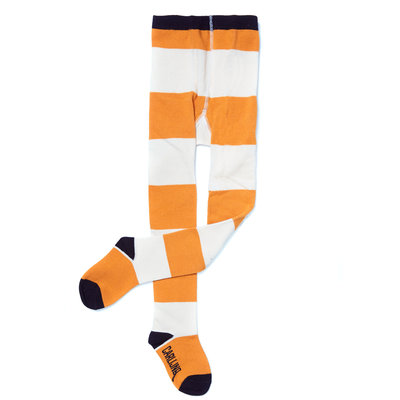 CarlijnQ Tights - Big stripes yellow / off-white