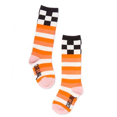CarlijnQ Knee Socks - Checkers / pink