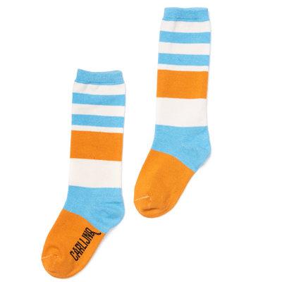 CarlijnQ Knee Socks - Blue / yellow