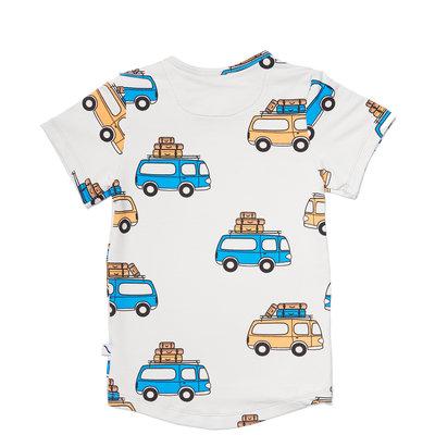 CarlijnQ road trippin' - t-shirt short sleeve drop back