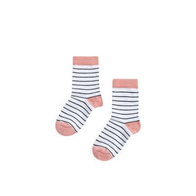 Mingo socks peach pink / stripes